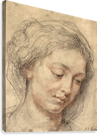 Head of a woman -2- by Rubens  Canvas Print